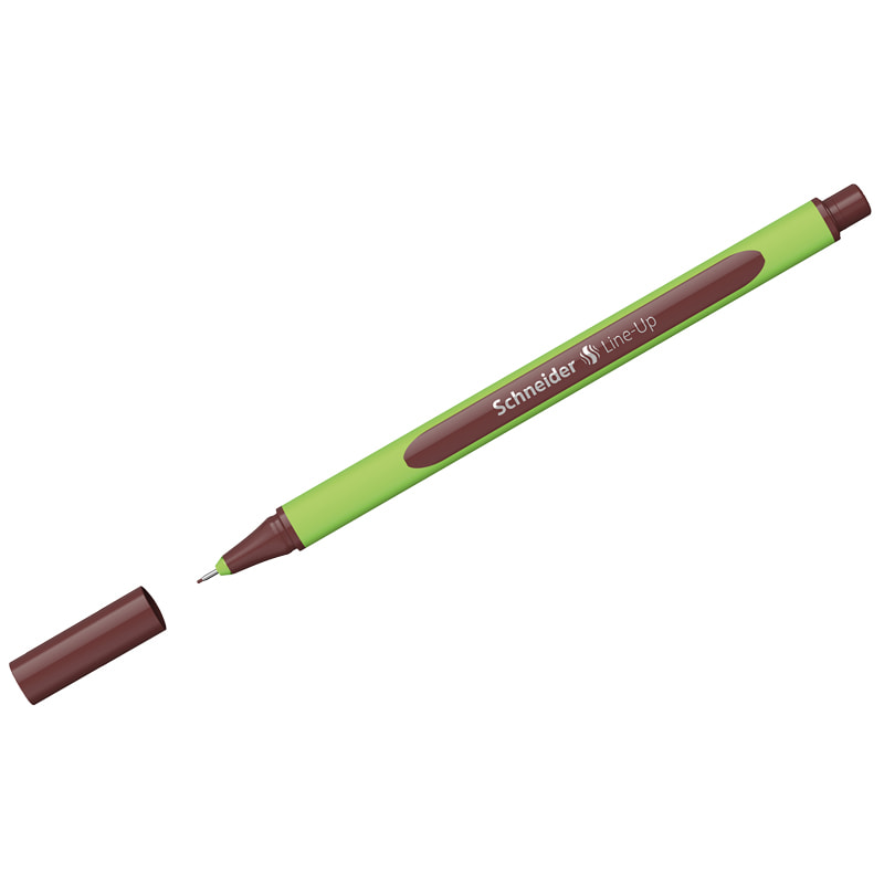 """Ручка капиллярная Schneider """"Line-Up"""" коричневая, 0,4мм"""