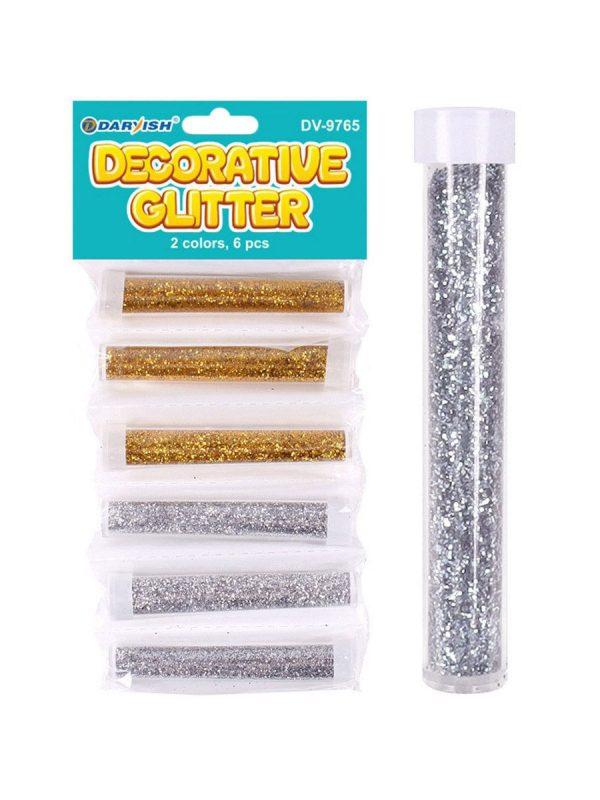 Набор блесток Darvish Золото/Серебро, 6 штук, 6ml.