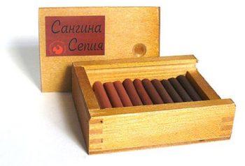 Сангина/сепия в деревянном пенале, 10шт.