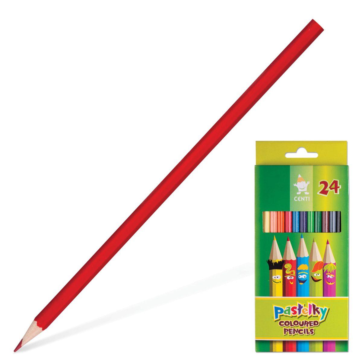 Набор цветных карандашей Сenti, 24 цвета