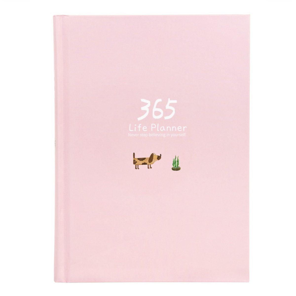 """Ежедневник """"365"""" (розовый) 13х18, 185 листов."""