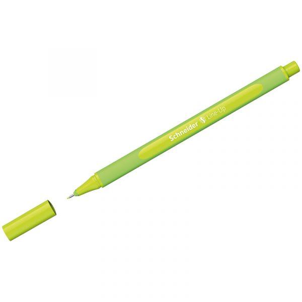 """Ручка капиллярная Schneider """"Line-Up"""" зеленое яблоко, 0,4мм"""