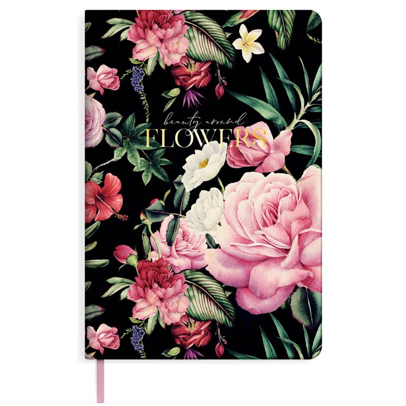 "Ежедневник недатированный Greenwich Line ""Romance. Dark flowers"" A5, 136 листов."