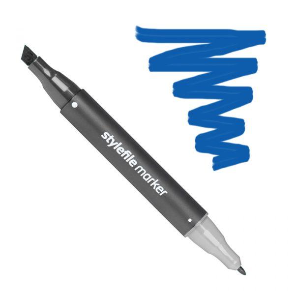 Маркер спиртовой двухсторонний STYLEFILE, цвет 554 Синий Наполеон