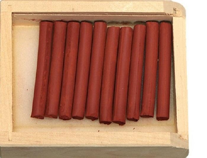 Cангина светлая в деревянном пенале, 10 карандашей