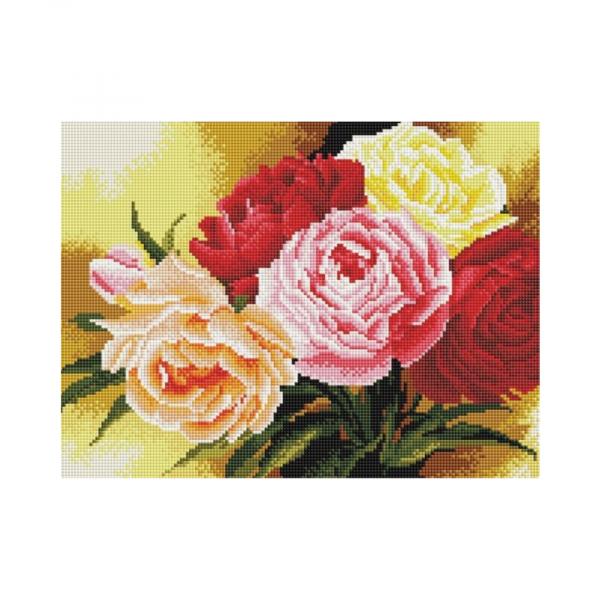 """Алмазная мозаика """"Розы"""", 30х40см."""