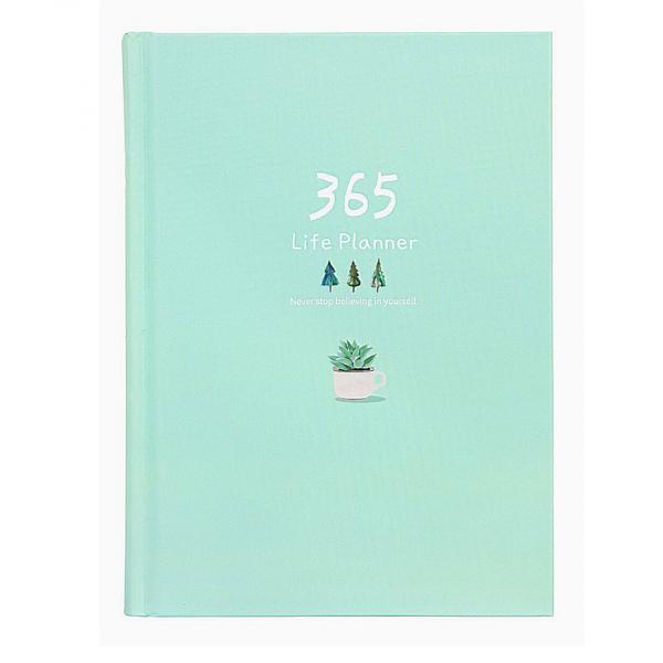 """Ежедневник """"365"""" (мятный) 13х18, 185 листов."""