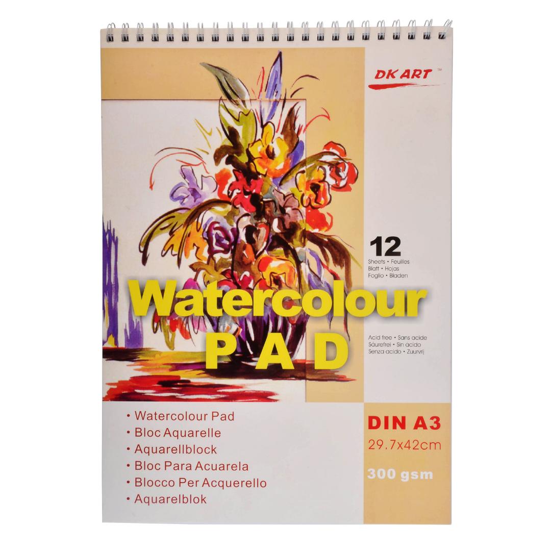 Альбом для акварели DK Art, А5, 12 листов, 300г/м2.