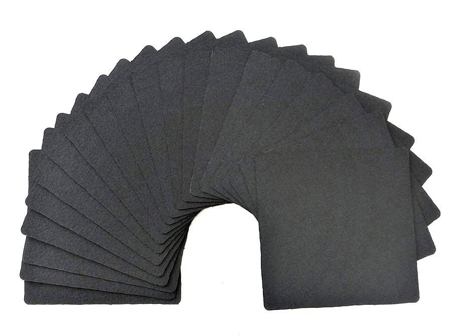 Набор карточек Zentangle (черная бумага) 20 листов, 89х89мм