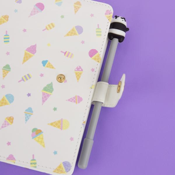 "Ежедневник на кнопке ""Мороженое"" 13х18,5, 112 листов."