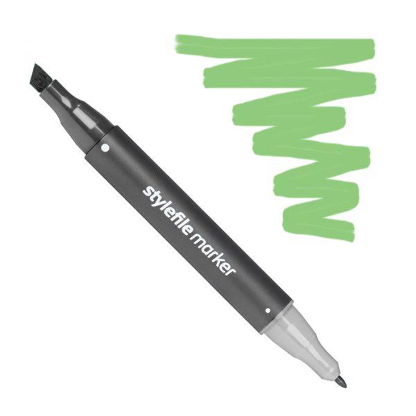 Маркер спиртовой двухсторонний STYLEFILE, цвет 672 Зеленый травяной