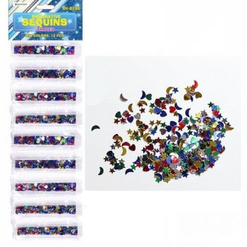Блестки Darvish в пластиковой банке Фигурные Ассорти, 4ml.