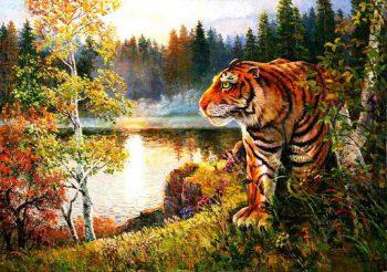 """Живопись по номерам """"Тигр"""", 40х50см"""