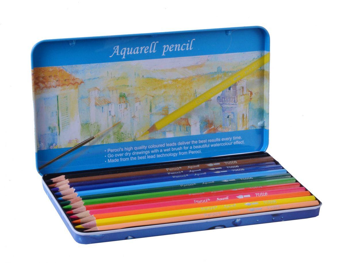 Набор акварельных карандашей Peroci, 12 штук.
