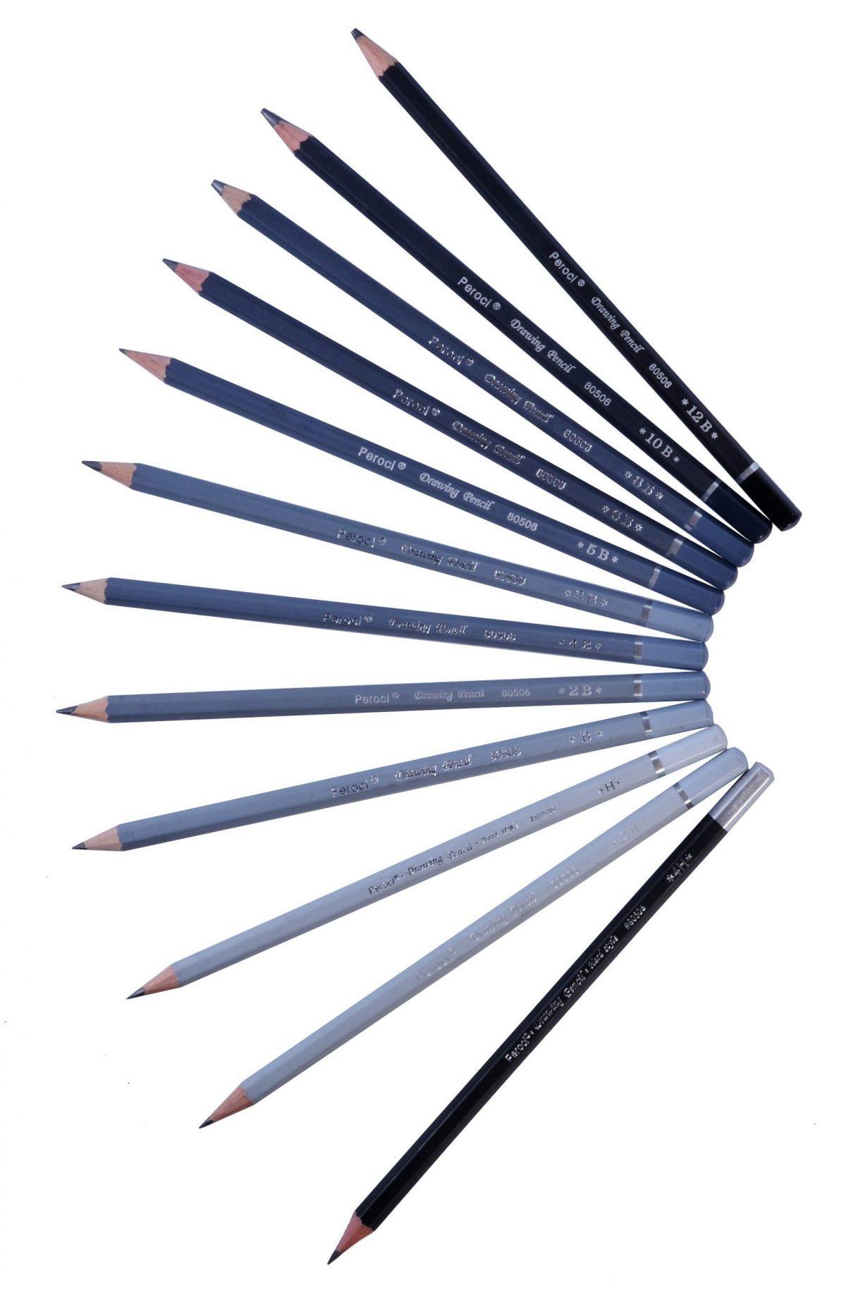 Набор чернографитовых карандашей Peroci, 12 штук.
