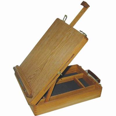 Этюдник деревянный (вяз) без ножек SFE0034, холст до 60 см, размер 39х26х12,7 см