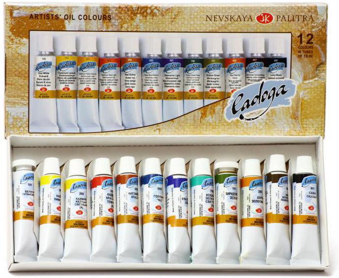 Набор масляных красок Ладога 12*18 мл картон