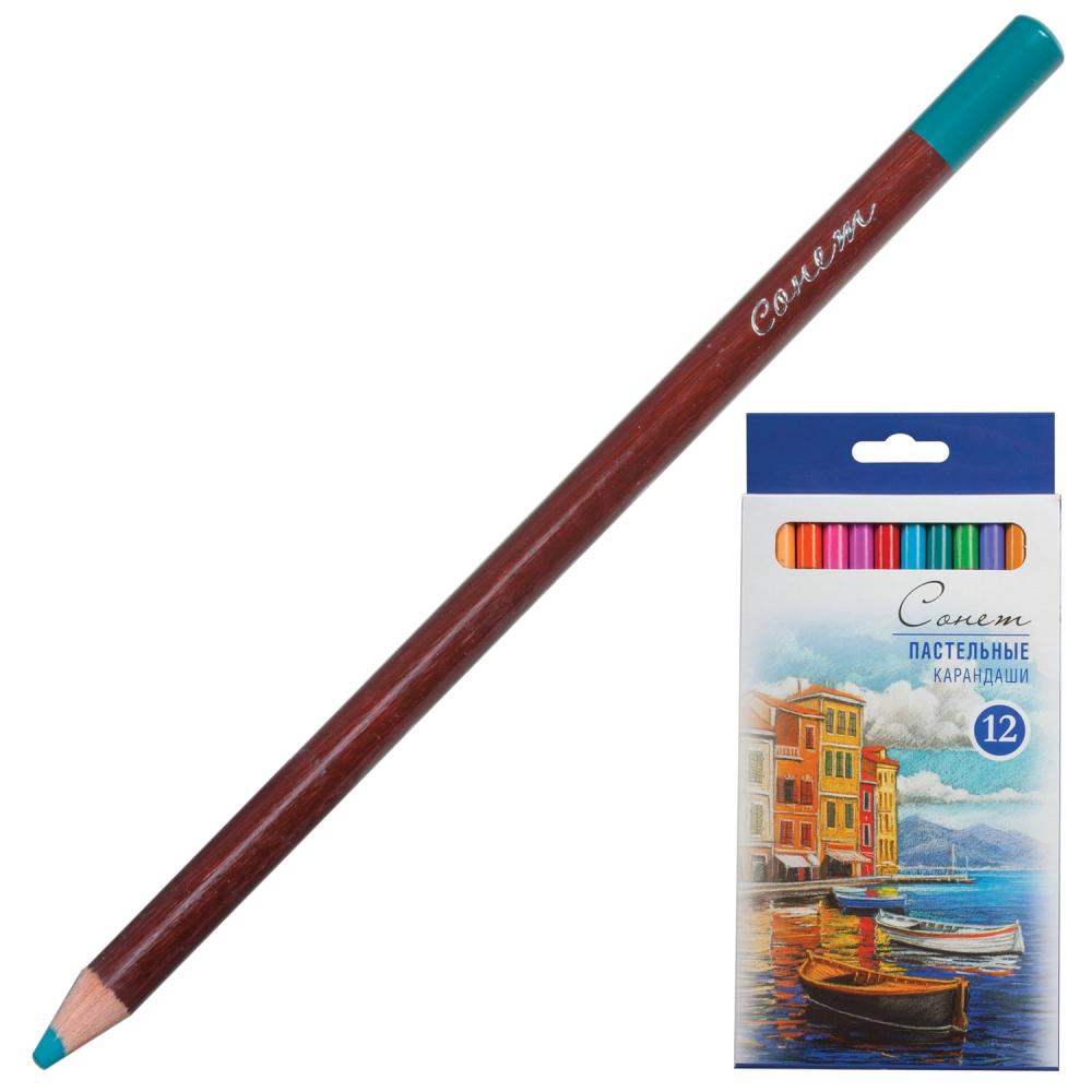 Набор пастельных карандашей Сонет, 12 цветов