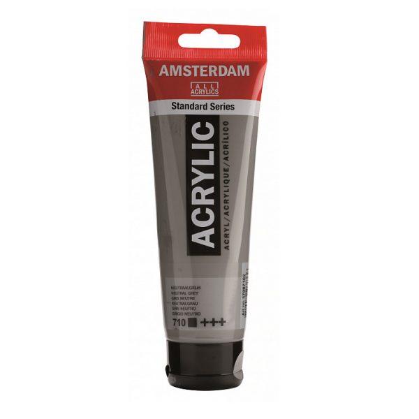 Краска акриловая Amsterdam туба 20мл №710 Серый нейтральный