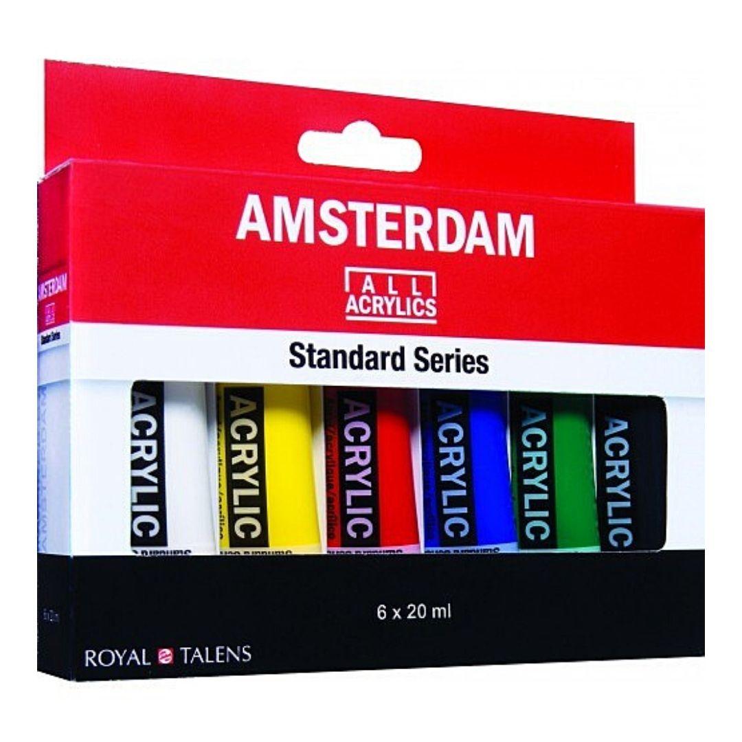Набор акриловых красок Amsterdam Standart 6 цветов, 20мл.
