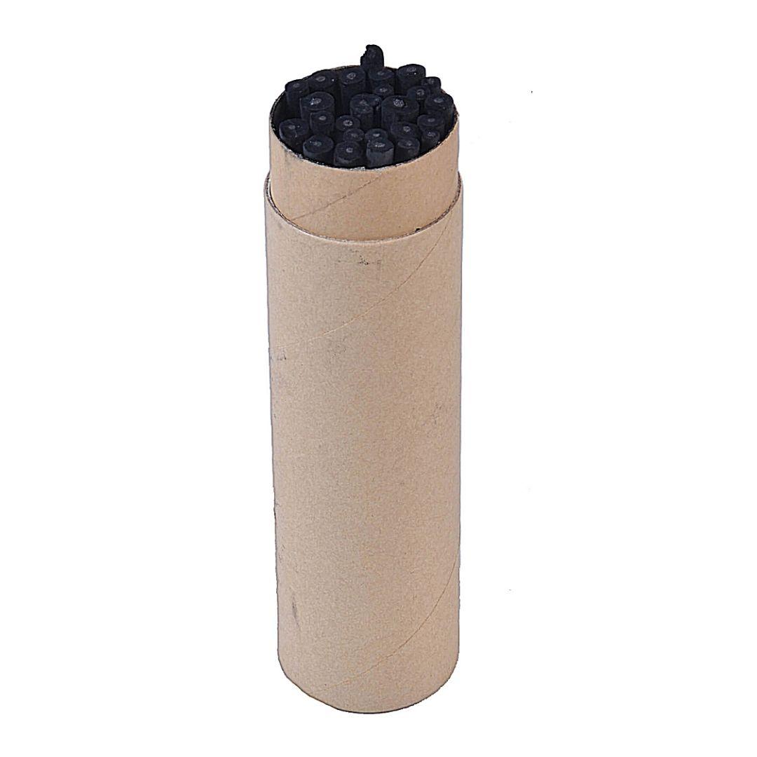 Набор угля из виноградной лозы в картонном тубусе, 26 штук.