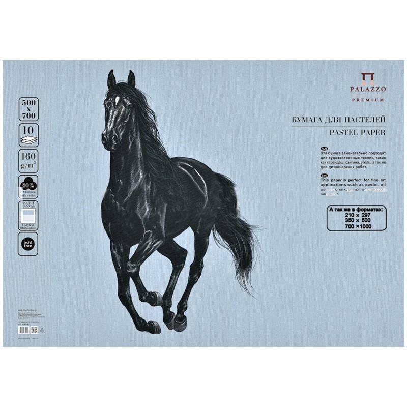 """Бумага для пастелей Palazzo 350х500 """"Вluemarine"""" (голубой), 160г/м2."""