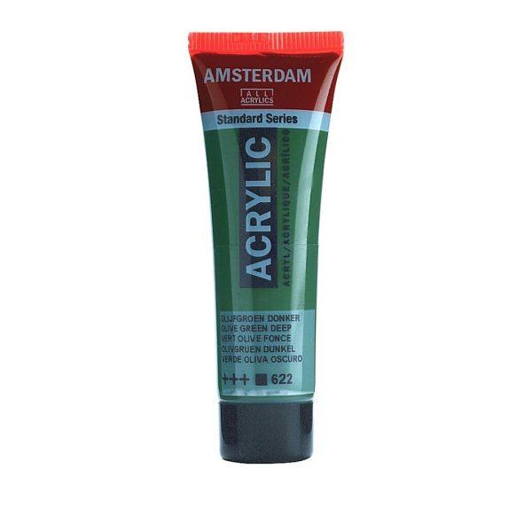 Краска акриловая Amsterdam туба 20мл №622 Зеленый оливковый насыщенный