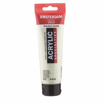 Краска акриловая Amsterdam туба 20мл №822 Зеленый жемчужный