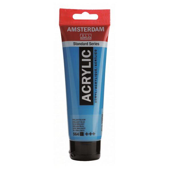 Краска акриловая Amsterdam туба 20мл №564 Синий бриллиантовый