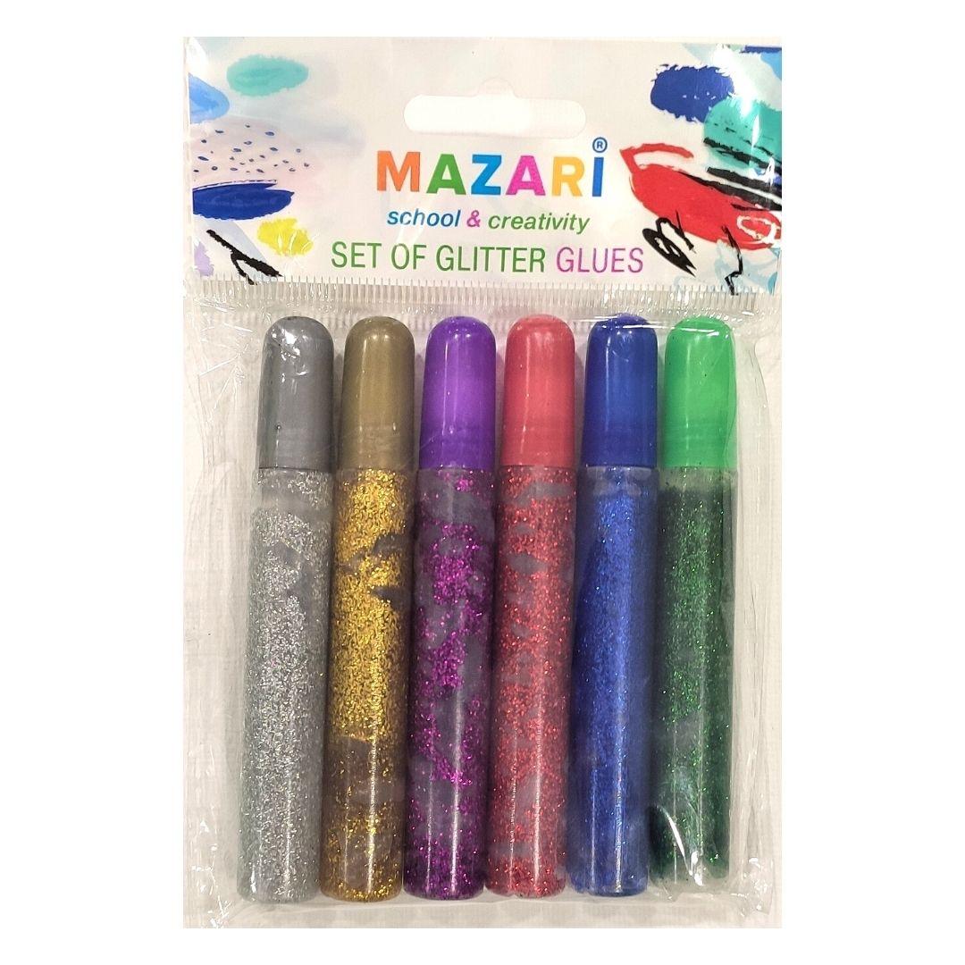 Гель MAZARI с золочением, 6цветов, 10мл.