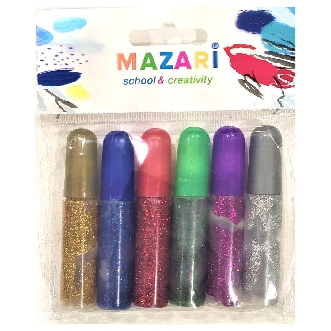 Гель MAZARI с золочением, 6цветов, 6мл.