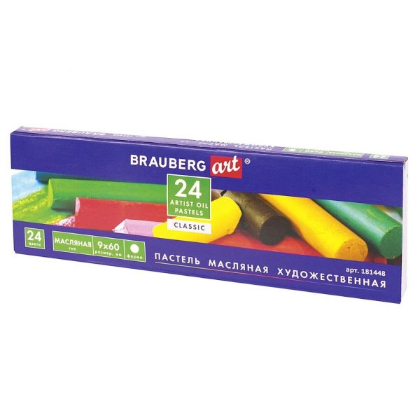 Набор масляной художественной пастели BRAUBERG ART CLASSIC, 24 цвета.