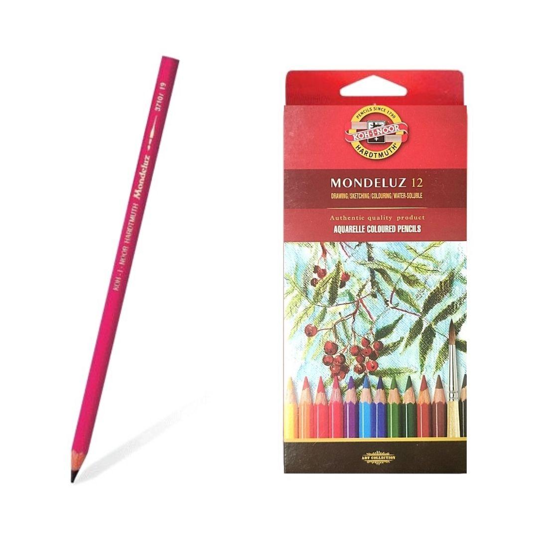 Набор акварельных карандашей Mondeluz в картоне, 12 цветов.