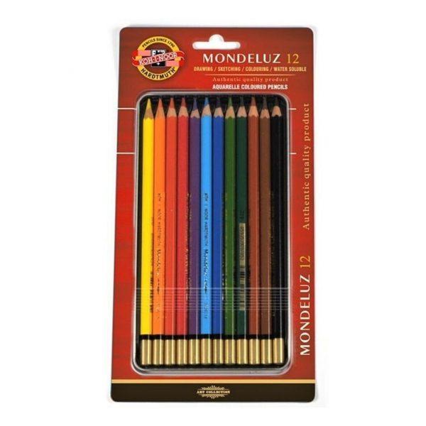 Набор акварельных карандашей Mondeluz в блистере, 12 цветов.