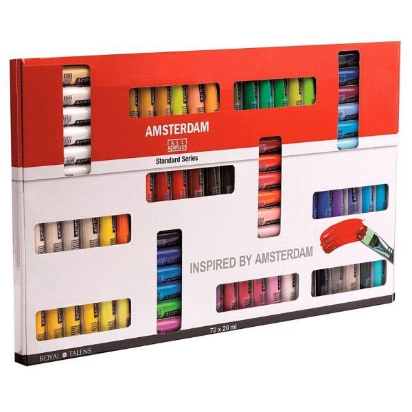 Набор акриловых красок Amsterdam Standart 72 цвета, 20мл.