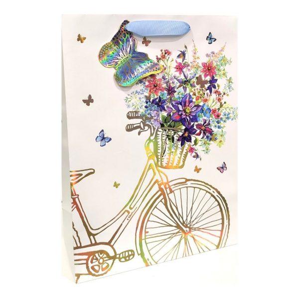 """Пакет подарочный """"Велосипед"""", 26х36х11см."""