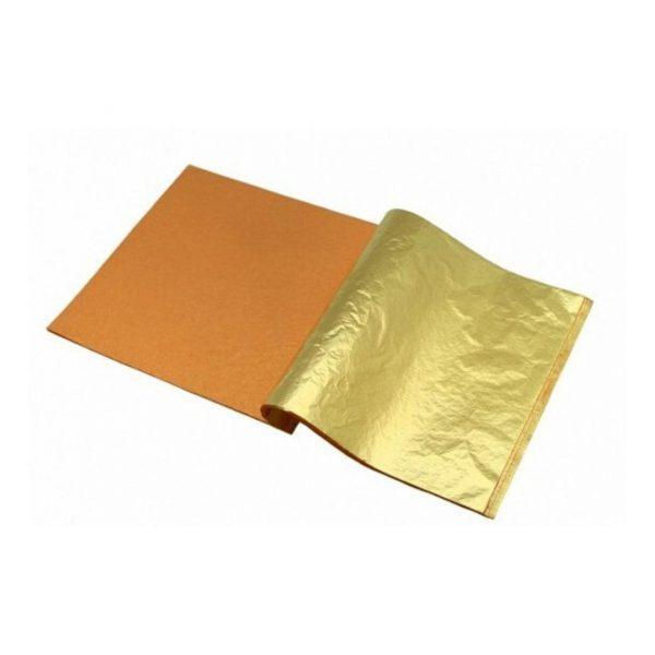 """Поталь в листах """"Золото"""" 25 листов, 14х14см."""