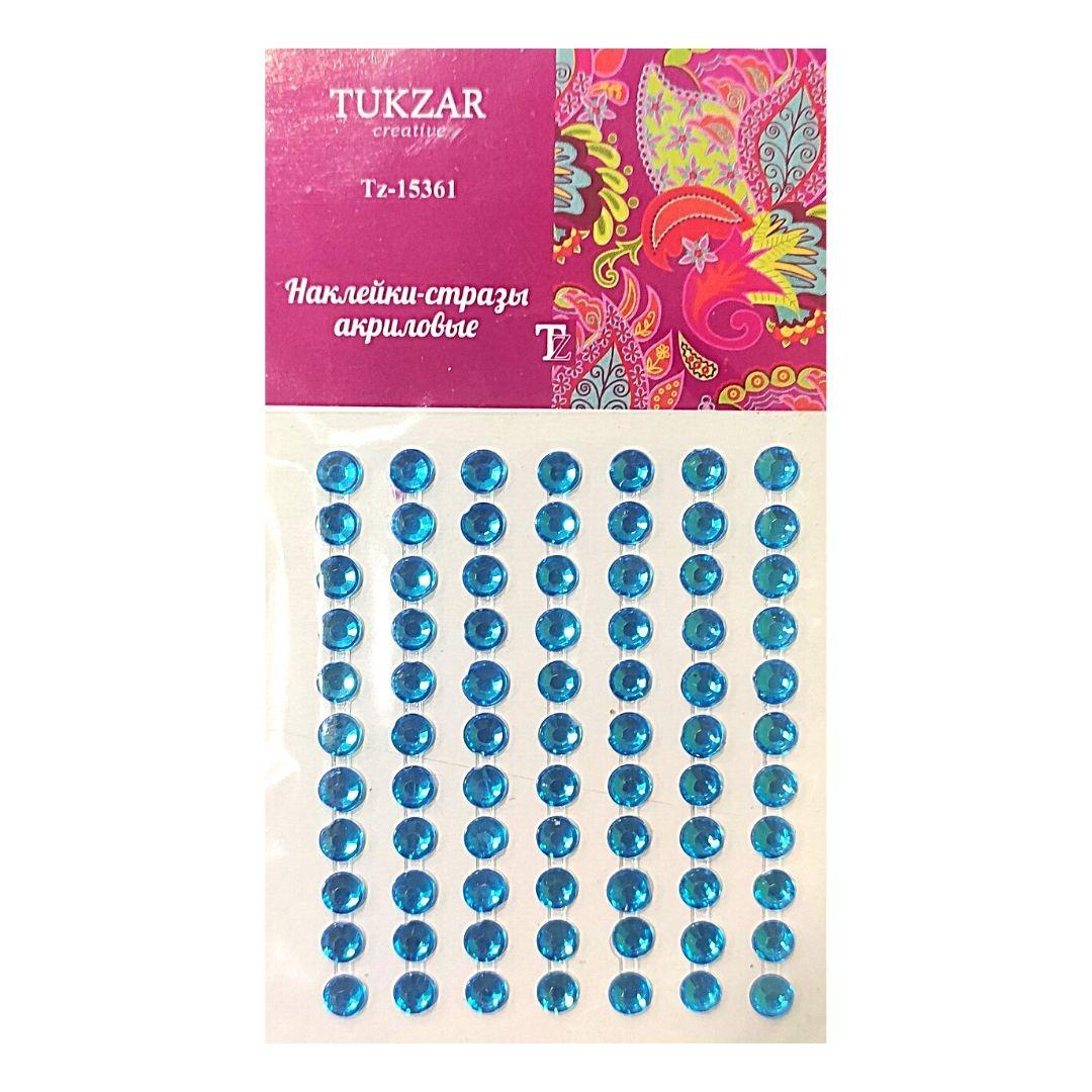 Стразы-наклейки TUKZAR Голубые, 77шт.