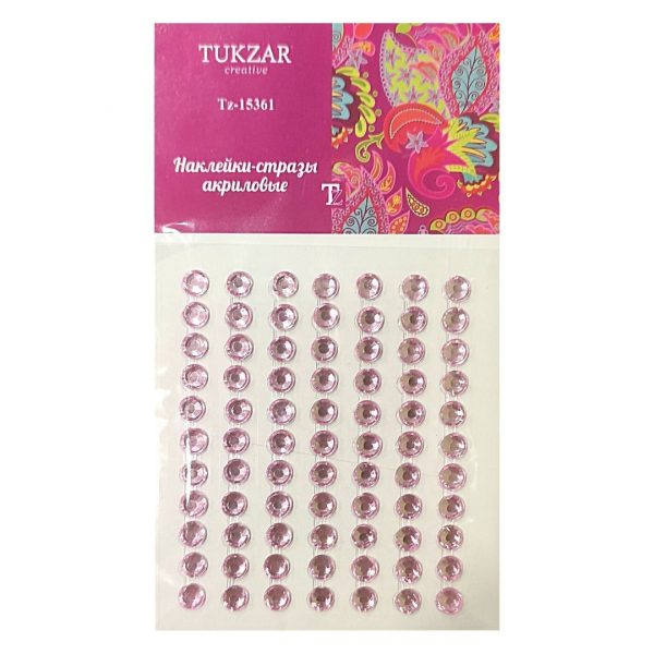 Стразы-наклейки TUKZAR Розовые, 77шт.