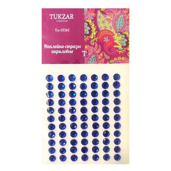 Стразы-наклейки TUKZAR Синие, 77шт.