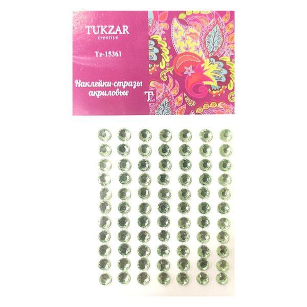 Стразы-наклейки TUKZAR Зеленые, 77шт.
