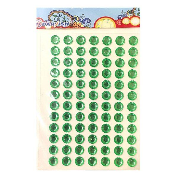 Стразы-наклейки Darvish Зеленые, 84шт.
