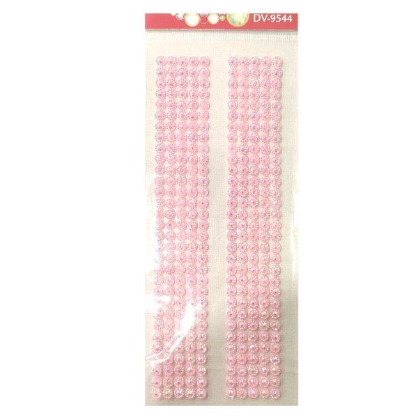Стразы-наклейки Darvish Розовые, 310шт.
