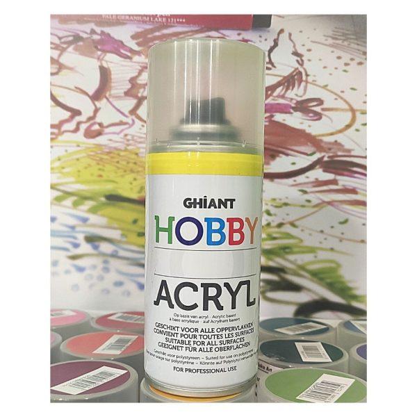 Ghiant Акриловая краска в аэрозоле Hobby, 150 мл, желтый