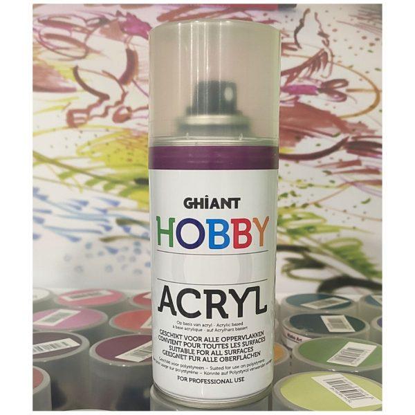 Ghiant Акриловая краска в аэрозоле Hobby, 150 мл, фиолетовый