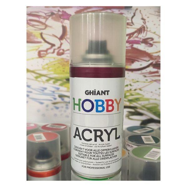 Ghiant Акриловая краска в аэрозоле Hobby, 150 мл, малиновый