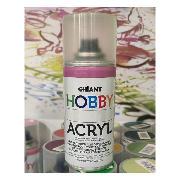 Ghiant Акриловая краска в аэрозоле Hobby, 150 мл, розовый темный
