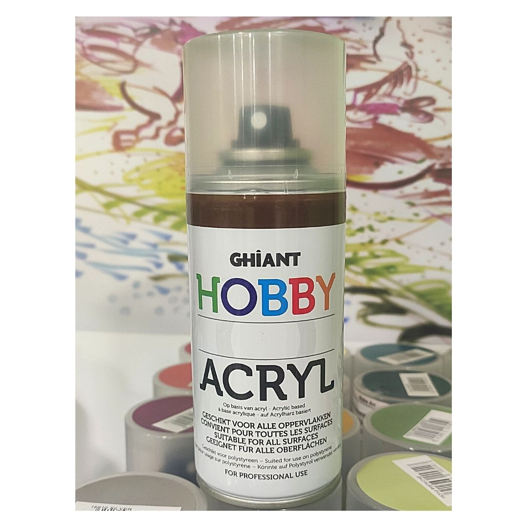 Ghiant Акриловая краска в аэрозоле Hobby, 150 мл, коричневый