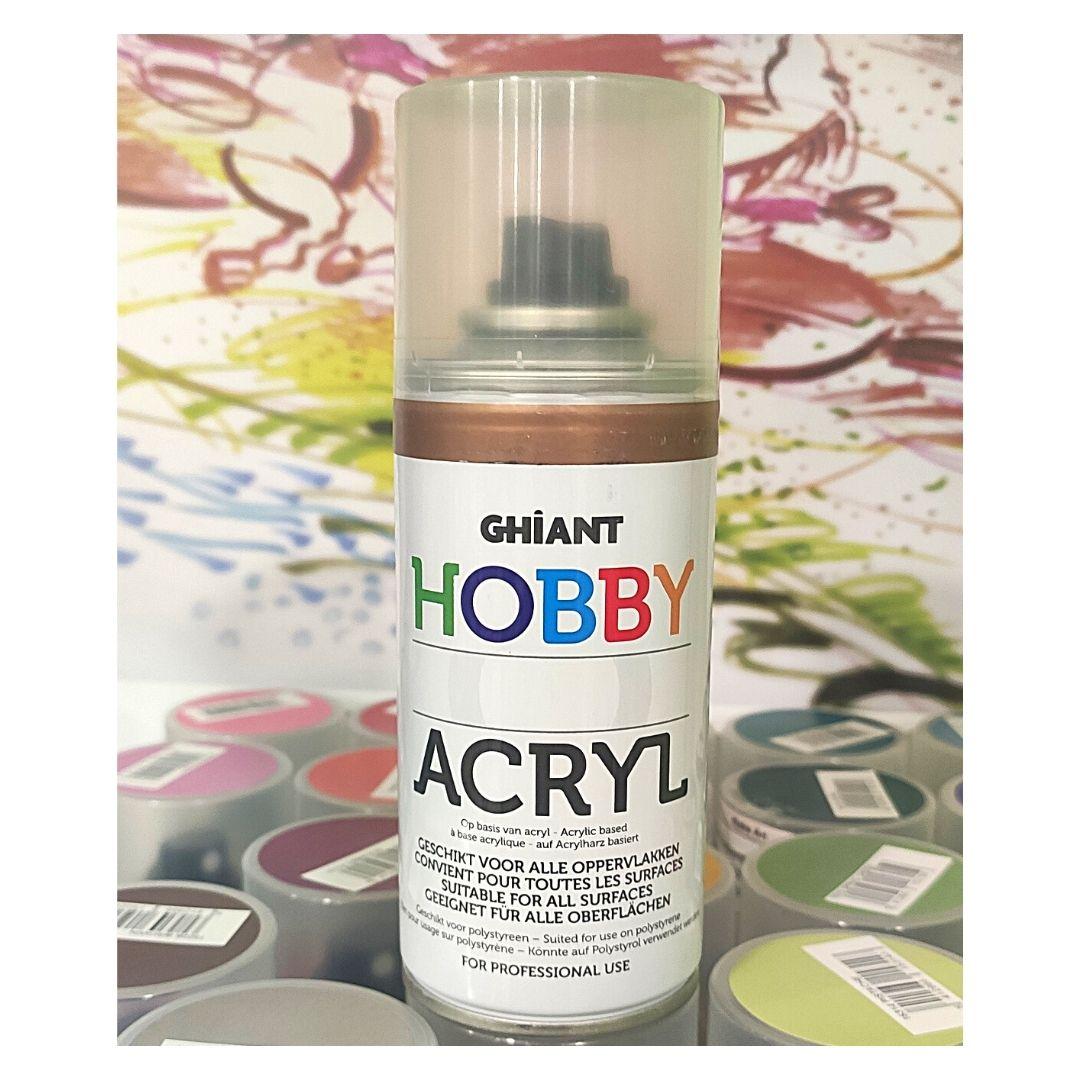 Ghiant Акриловая краска в аэрозоле Hobby, 150 мл, бронза