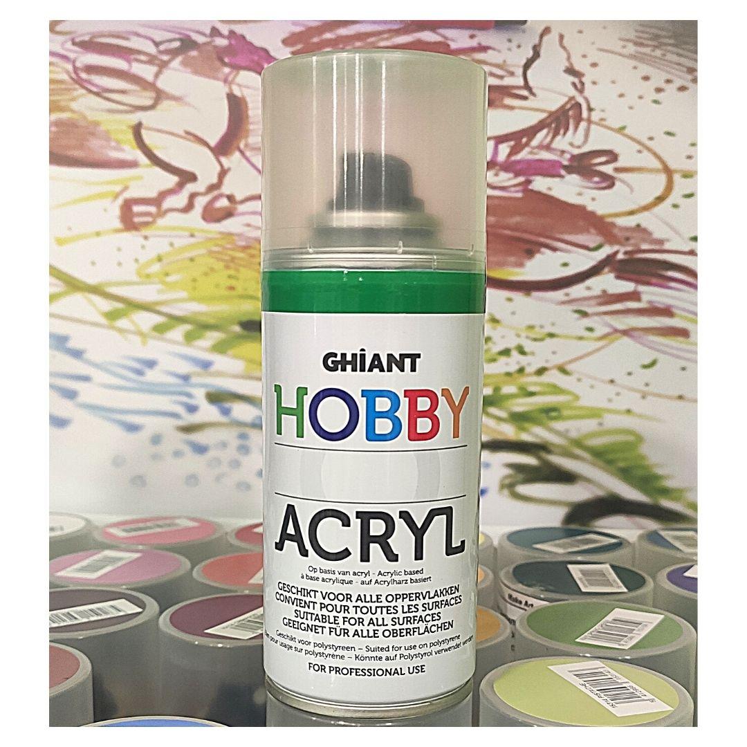 Ghiant Акриловая краска в аэрозоле Hobby, 150 мл, изумрудный